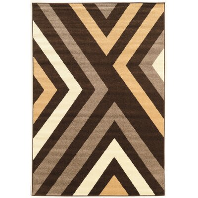Thorton Brown Area Rug Rug Size: Rectangle 5 x 7