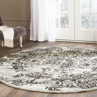 Costa Mesa Silver/Black Area Rug Rug Size: 10 x 14
