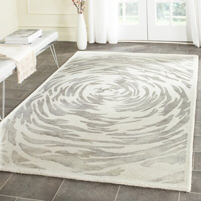 Adan Hand-Tufted Ivory/Grey Area Rug Rug Size: Rectangle 2 x 3