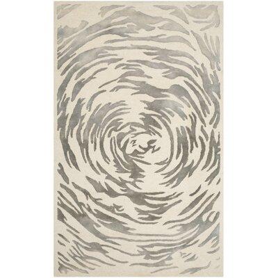 Marina Hand-Tufted Ivory/Grey Area Rug Rug Size: 4 x 6