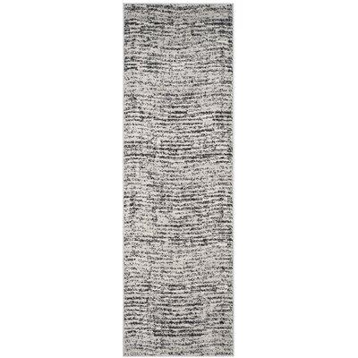 Millbrae Black/Beige Area Rug Rug Size: Runner 26 x 8