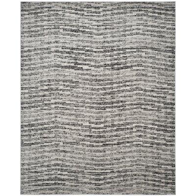 Costa Mesa Black/Silver Area Rug Rug Size: 51 x 76
