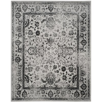 Costa Mesa Gray/Black Area Rug Rug Size: 12 x 18