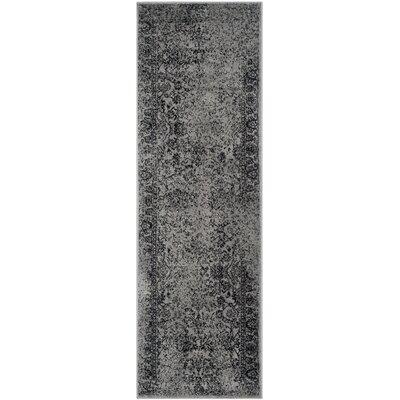 Costa Mesa Gray/Black Area Rug Rug Size: Runner 26 x 18