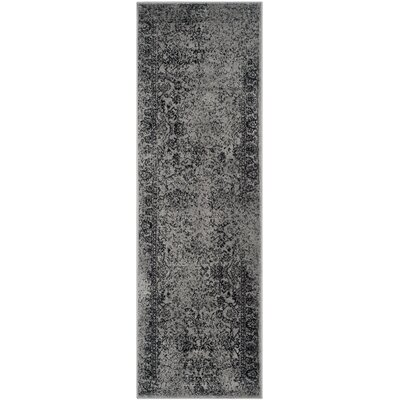Costa Mesa Gray/Black Area Rug Rug Size: Runner 26 x 20