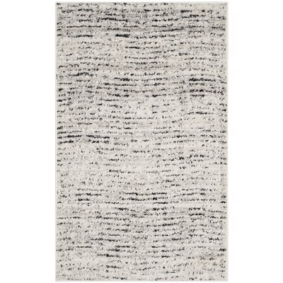 Costa Mesa Ivory/Silver Area Rug Rug Size: 4 x 6