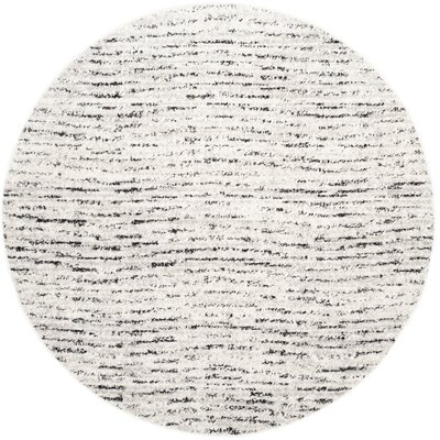 Costa Mesa Ivory/Silver Area Rug Rug Size: Round 6