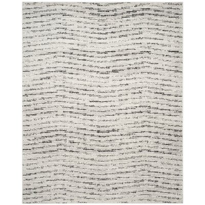 Costa Mesa Ivory/Silver Area Rug Rug Size: 8 x 10