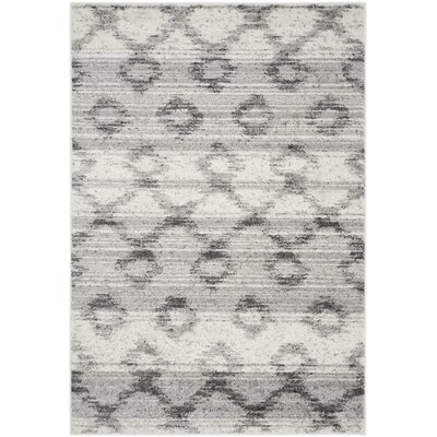 Costa Mesa Silver/Charcoal Area Rug Rug Size: Square 6