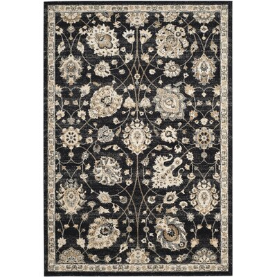 Brawley Black/Creme Area Rug Rug Size: Rectangle 9 x 12