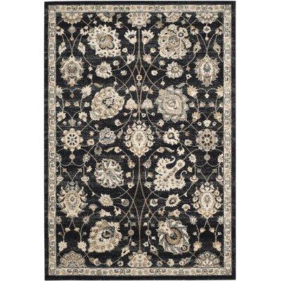 Brawley Black/Creme Area Rug Rug Size: 4 x 6