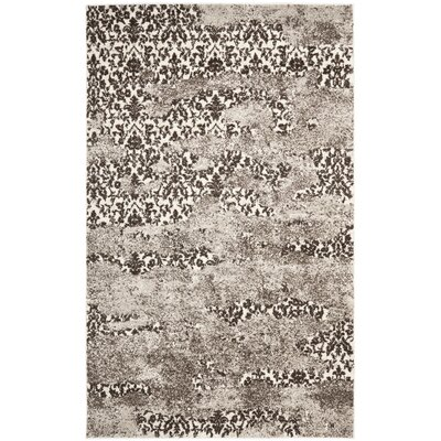 Twentynine Palms Retro Beige/Light Grey Rug Rug Size: 4 x 6