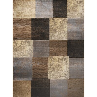 Daly City Gray/Cream Area Rug Rug Size: 52 x 72
