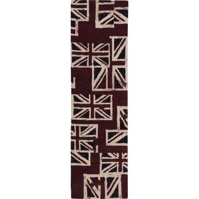 Westmorland Handmade Union Jack Area Rug Rug Size: Runner 23 x 8