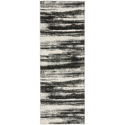 Aislinn Dark Grey / Light Grey Area Rug Rug Size: Runner 23 x 11