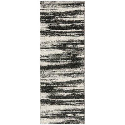 Twentynine Palms Dark Grey / Light Grey Area Rug Rug Size: Runner 23 x 9