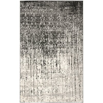 Twentynine Palms Black/Light Grey Area Rug Rug Size: 6 x 9
