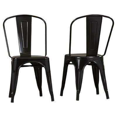 Kunkle Stackable Side Chair Finish: Black