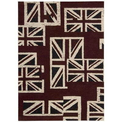 Westmorland Handmade Union Jack Area Rug Rug Size: Rectangle 53 x 75