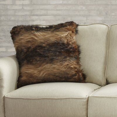 Artesia Faux Fur Throw Pillow