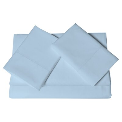 Ferndale 4 Piece 800 Thread Count Egyptian Quality Cotton Sheet Set Color: Blue, Size: California King
