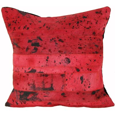 Riverside Leather Throw Pillow