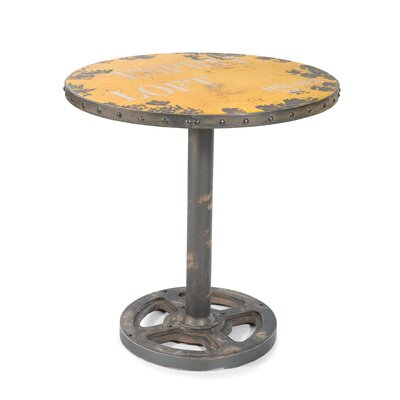 Darter Round Wheel End Table Finish: Yellow