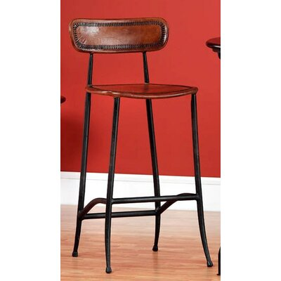 Chamisa 30 Bar Stool Upholstery: Brown