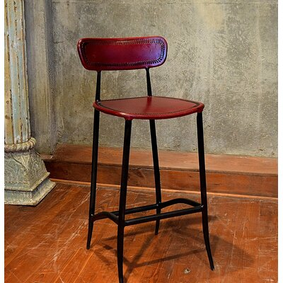 Chamisa 30 Bar Stool Upholstery: Burgundy