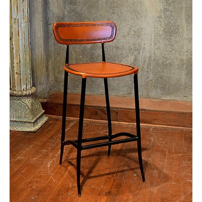 Chamisa 30 Bar Stool Upholstery: Apricot
