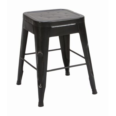 Peyton 18 Bar Stool (Set of 4) Finish: Black