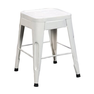 Peyton 18 Bar Stool (Set of 4) Finish: White