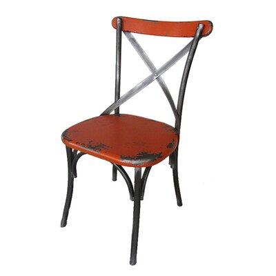 Catsby Side Chair (Set of 2) Finish: Orange