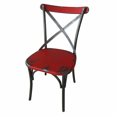 Catsby Side Chair (Set of 2) Fabric: Red