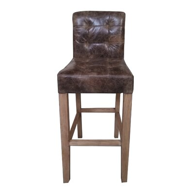 Wilma 30.7 Bar Stool Upholstery: Brown