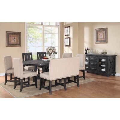 Gaudette Industrial 8 Piece Dining Set