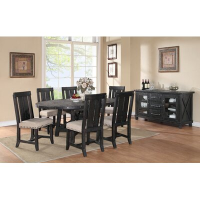 Gaudette Wood Extendable Dining Table