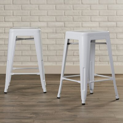 Delavan 24 Bar Stool Finish: White