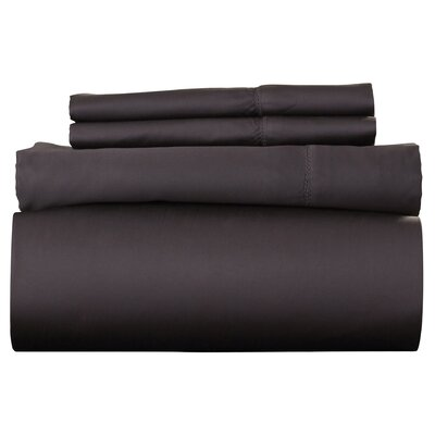 Ferndale 4 Piece 800 Thread Count Egyptian Quality Cotton Sheet Set Color: Steel, Size: California King