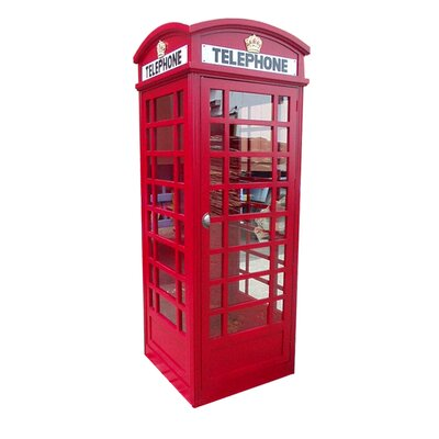 London Red Telephone Booth Sculpture