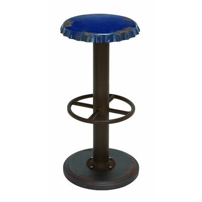 Ali 30 Bar Stool Seat Color: Blue