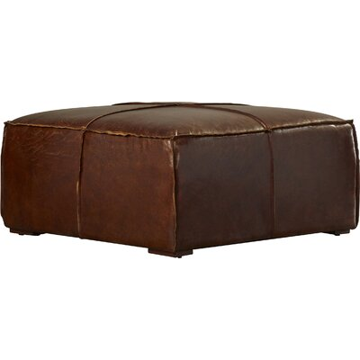Currywood Leather Ottoman