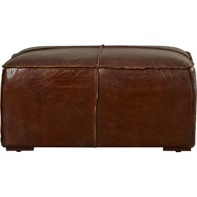 17 Stories Bonita Leather Ottoman