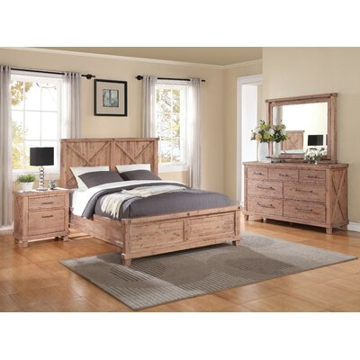 Langsa Wood Panel Configurable Bedroom Set