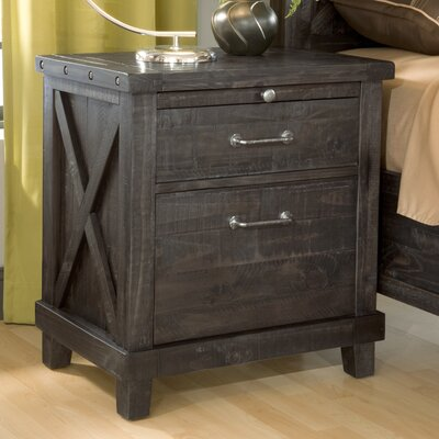 Gaudette 2 Drawer Nightstand Finish: Caf�