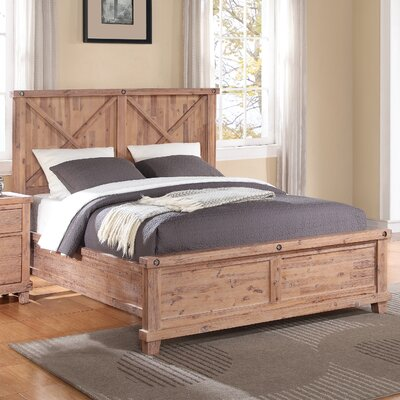 Langsa Panel Bed Size: King, Color: Cider