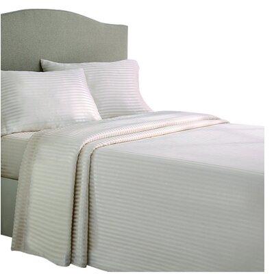 Allenton 4 Piece Stripe Sheet Set Color: Ivory, Size: Queen