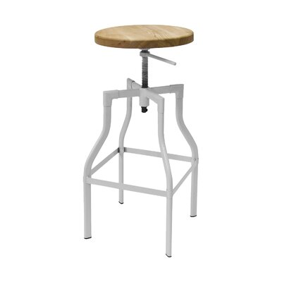 Donington 27 Swivel Bar Stool Base Finish: White