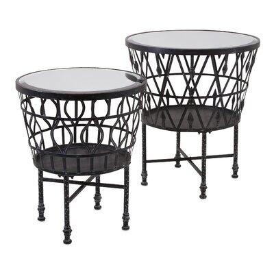 Clivden 2 Piece Drum End Tables Set