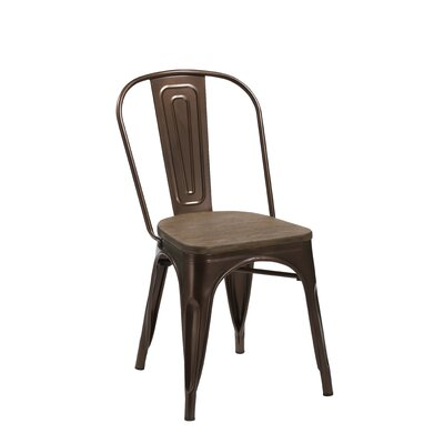Sheree Solid Wood Dining Chair Finish: Copper